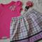 Girls Skirt & T Shirt Set Size 3 with matching Hairband