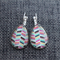 Multi Chevron~Teardrop Lever Back Earrings