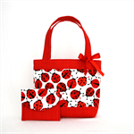 Mini Tote Bag & Purse - Ladybugs / Ladybirds