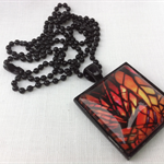 """Stained Glass"" square Pendant"