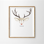 Rudolph the Red Nose Reindeer Print-Great Christmas Gift!