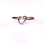 Infinity ring, love knot ring, rose gold ring,