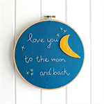 love you to the moon | hoop textile accessory | baby nursery bedroom gift