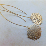 Gold Filigree 'Mum' Flower Earrings