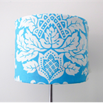 Circa in Blue lampshade and base.