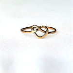 Infinity ring, love knot ring, gold