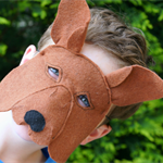 Kangaroo Mask  - Australian Animal - Felt- Book Week - Costume