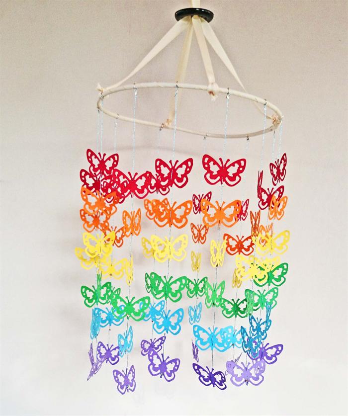 Custom baby mobile butterfly design kbs designs - Designer babymobel ...