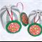 Set of 3 Felt Christmas Decorations - Happy Circles