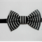 Classic black / white bow stretch headband