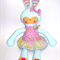 Cute Blue Bunny with Removable Dress