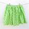 Girl's Twirly Skirt Sparkle Lime with Aqua Spots - Girl, Toddler, Summer