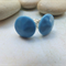 Blue Glass Studs