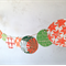 Hand printed Christmas bunting // Christmas decoration // Christmas garland // E
