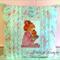 """"""" Sweet Cushion """" Little Girl Kissing Her Teddy Goodnite"""