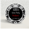10 Personalised button badges  Black Damask - hens party, party favour