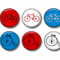 Bicycle fridge magnet set.