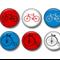 Bicycle fridge magnet set. Mens gift