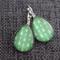 Green Arrow ~Teardrop Lever Back Earrings