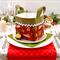 Christmas Fabric Basket 'Christmas Parcels' 12.5cm