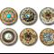 Jewel magnets - 'Bling!' fridge magnet set.