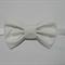 Classic white bow stretch headband