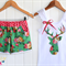 Floral Sassy shorts + applique singlet top Sizes 2-5 Green Pink Gold Vintage