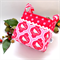 Christmas Fabric Basket 'Tilda Oriental Bird' 12.5cm