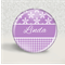 Purple Daisy personalised badge - hens party, party favour