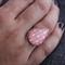 Blush Arrow Contemporary Teardrop Ring