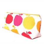 Makeup Zipper Pouch // Stationery Pencil Case in Delicious Apples Print