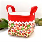 Christmas Fabric Basket 'Mini Christmas Stockings' 10cm