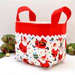 Christmas Fabric Basket 'Santa' 12.5cm