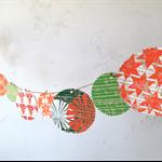 Hand printed Christmas bunting // Christmas decoration // Christmas garland