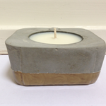Square Concrete Pot With Scented Candle