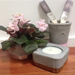 Round Concrete plant/candle pot