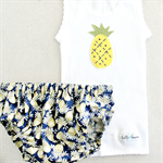 pineapple love | baby bloomers & singlet set | felt applique