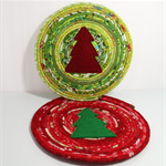 Coiled fabric trivets - set of 2