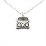 Kombi Van Sterling Silver Necklace - Free Shipping Shipping