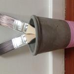 Tall Concrete plant/pen holder pot