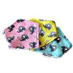 Set of 3 ElephantsBamboo Dribble Bandanna Bib