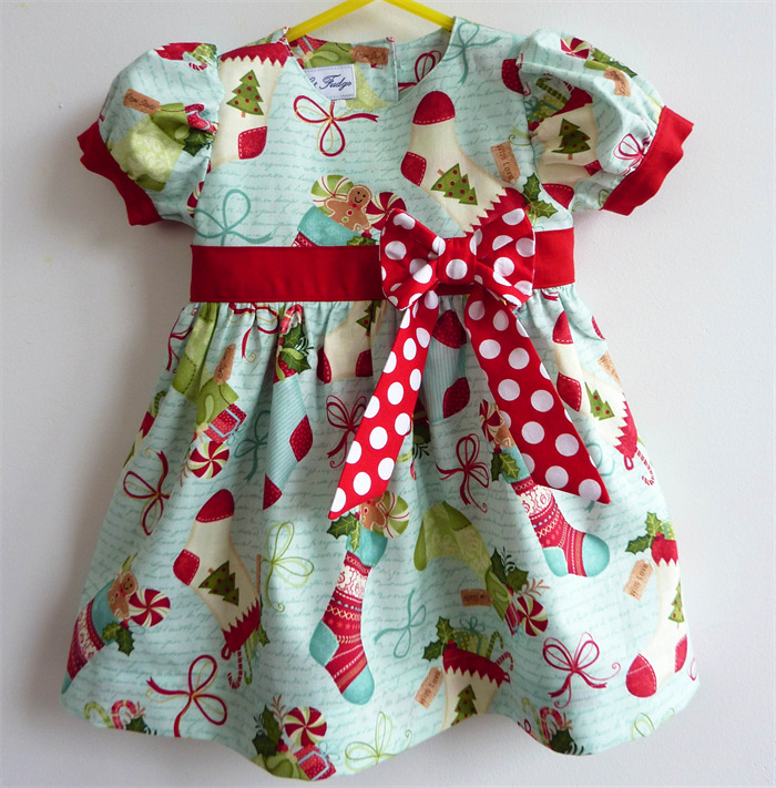 babys christmas party dress celebration sizes 0 3 months to 18 24