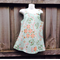 Summer cotton pinafore pale green retro style with green lining Sizes 00 to 7