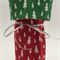Red  and Green Christmas Gift Bag Wine Bottle Bag