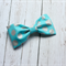 Sophia - Blue and silver dot hair bow tie