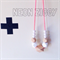 NEON ZIGGY Teething Necklace CORAL