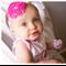 Pink Peppa Pig Toddler Baby Headband - Large Flower - Zara BB