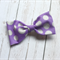 Sophia - Purple and silver bow