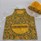 Girls' sunflower apron and chef hat,kid's apron,girl's apron,chef hat