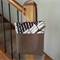 FREE POSTAGE - CANVAS BAG with brown LEATHER Straps.  Tan, black, brown fabric.